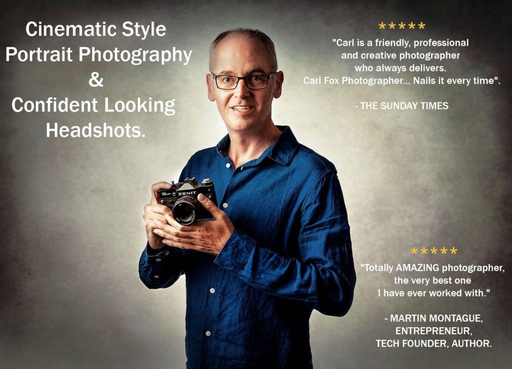 headshot and portrait photo of carl fox photographer