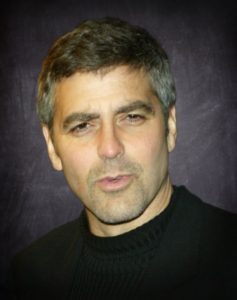 headshot portrait photo george clooney