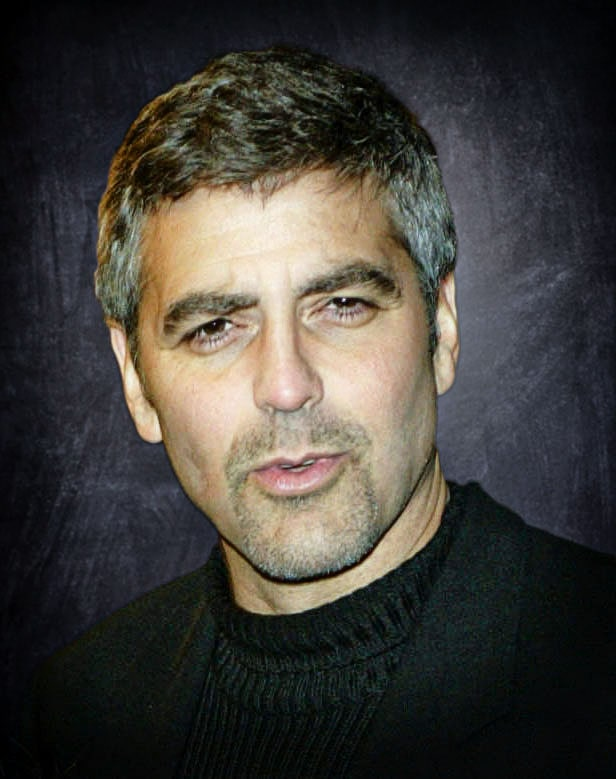 george clooney headshot portrait photo